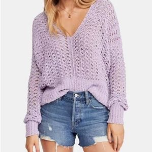 NWT Free People Crochet Sweather Size L